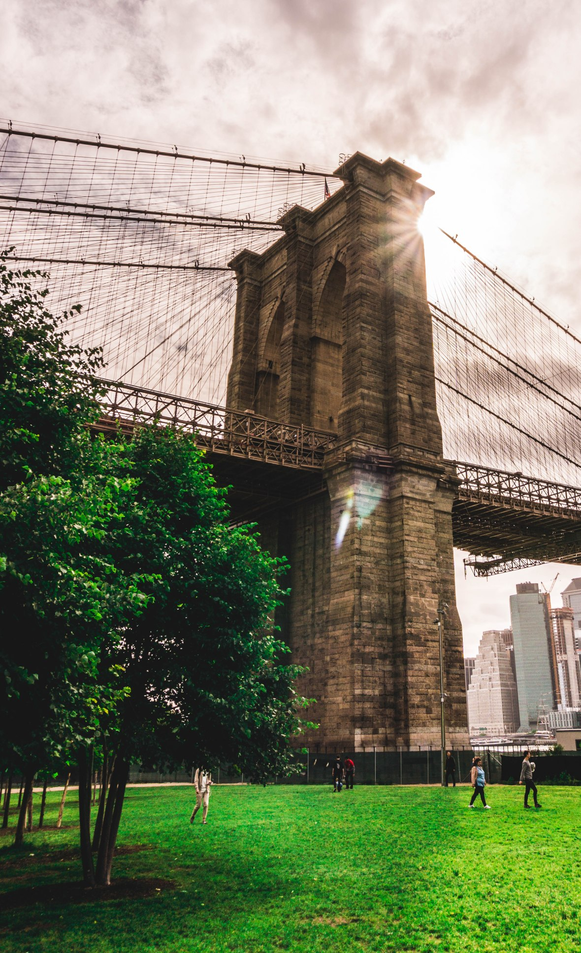 Brooklyn Bridge Sunburst